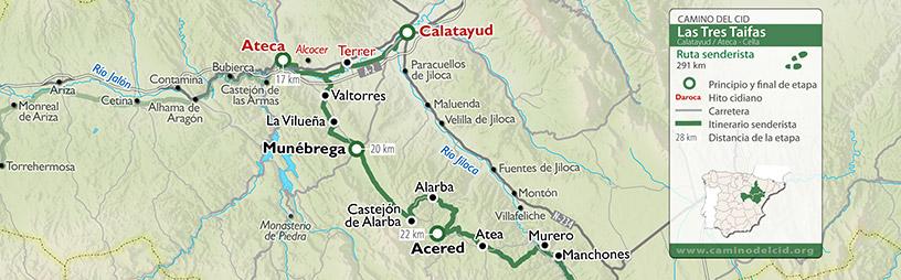 Cabecera mapa Senderista TresTaifas