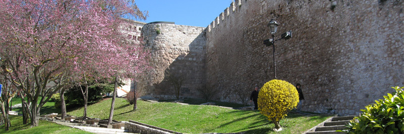 Ancient town walls in Burgos.