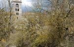Romanesque tower of San Pedro de Cardeña, province of Burgos / ALC.