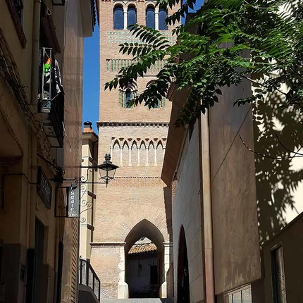 Mudejar Tower of Saint Peter in the town of Teruel, declared World Heritage Site by the UNESCO / ALC.