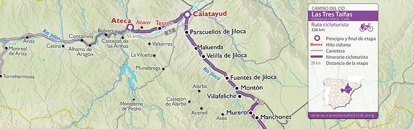 Cabecera mapa Cicloturismo Tres Taifas