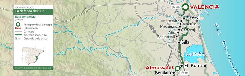 Cabecera mapa Senderista Defensa del Sur