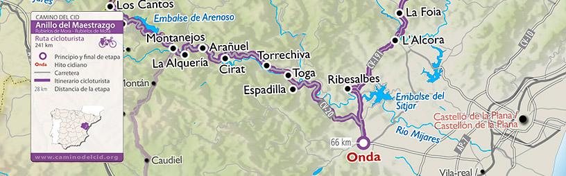 Cabecera mapa Cicloturisma Anillo-de-Maestrazgo