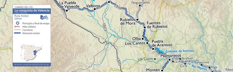 Cabecera mapa Motor Conquista de Valencia