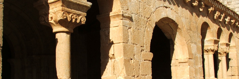 Romanesque church in Aguilera, Soria.