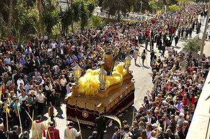 Palm Sunday Procession in Elche, Alicante. Festivity of International Tourist Interest