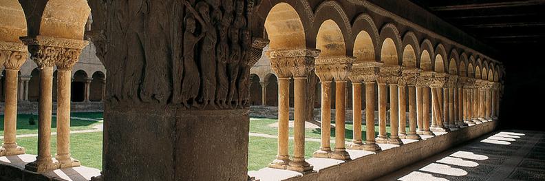 Romanesque cloister in Santo Domingo de Silos, Burgos