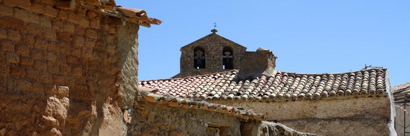 Roofs of Aguilar de Montuenga, Soria.