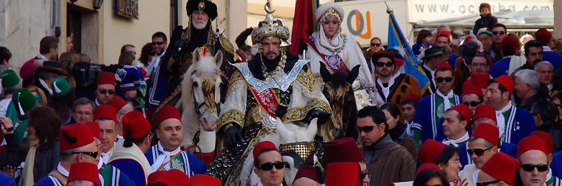 Fiesta de Moros y Cristianos, Bocairent, Valencia.