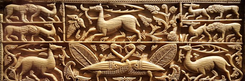 Islamic ivory casket XIth Century in the Arqueological Museum of Burgos.