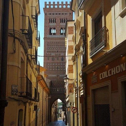 Mudejar Tower of San Salvador in the town of Teruel, declared World Heritage Site by the UNESCO / ALC.