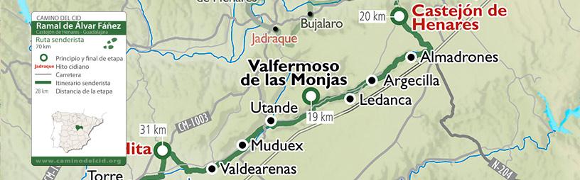 Cabecera mapa Senderista Ramal Álvar Fáñez_Senderista