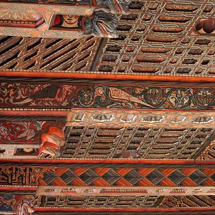 Mudéjar roof in the Cathedral of Teruel, declared World Heritage Site by the UNESCO / ALC.