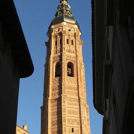 Mudéjar tower of Santa María in Calatayud (Zaragoza), declared World Heritage Site by UNESCO / ALC.