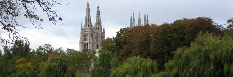 Spires of the gothic cathedral of Burgos.