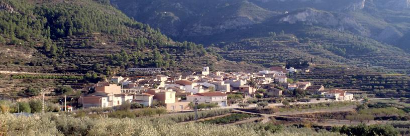 View of Alfarrasí, Valencia.