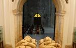 Sepultures of El Cid and his wife Jimena in the Monastery of San Pedro de Cardeña, province of Burgos / ALC.
