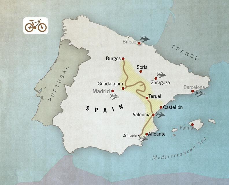 MTB route Camino del Cid, Spain