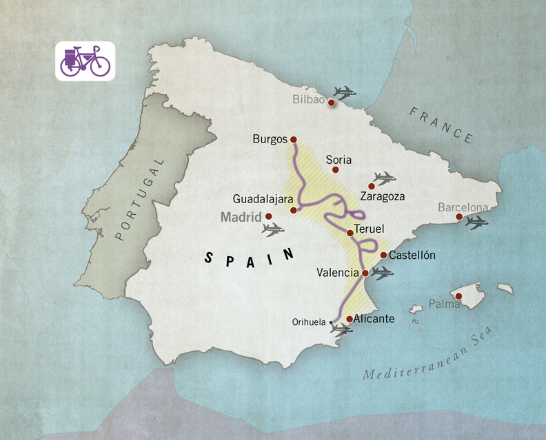 Road cycling route Camino del Cid, Spain