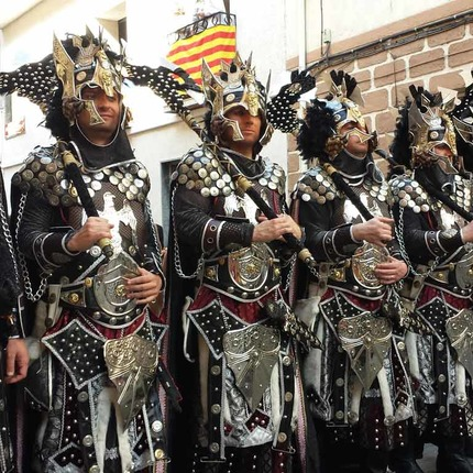 Moors and Christians. Banyeres de Mariola, Alicante. Festivity of National Tourist Interest
