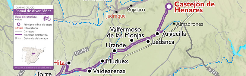 Cabecera mapa Cicloturismo Ramal Álvar Fáñez