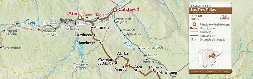Cabecera mapa BTT-MTB Tres Taifas