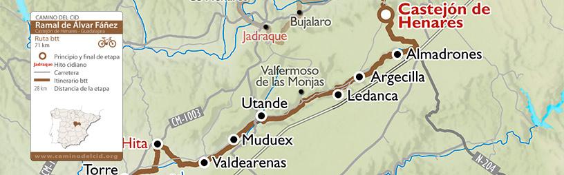 Cabecera mapa BTT-MTB Ramal Álvar Fáñez