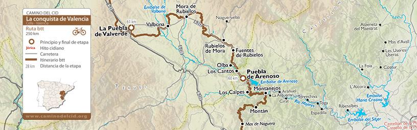 Cabecera mapa BTT-MTB Conquista de Valencia